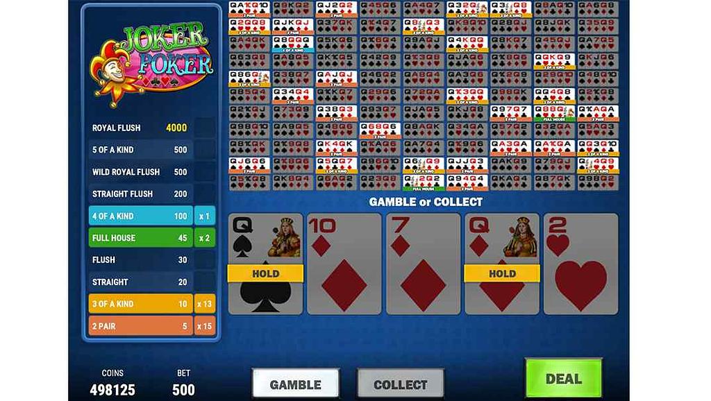 Spinia Video Poker - Joker Poker Play'n Go