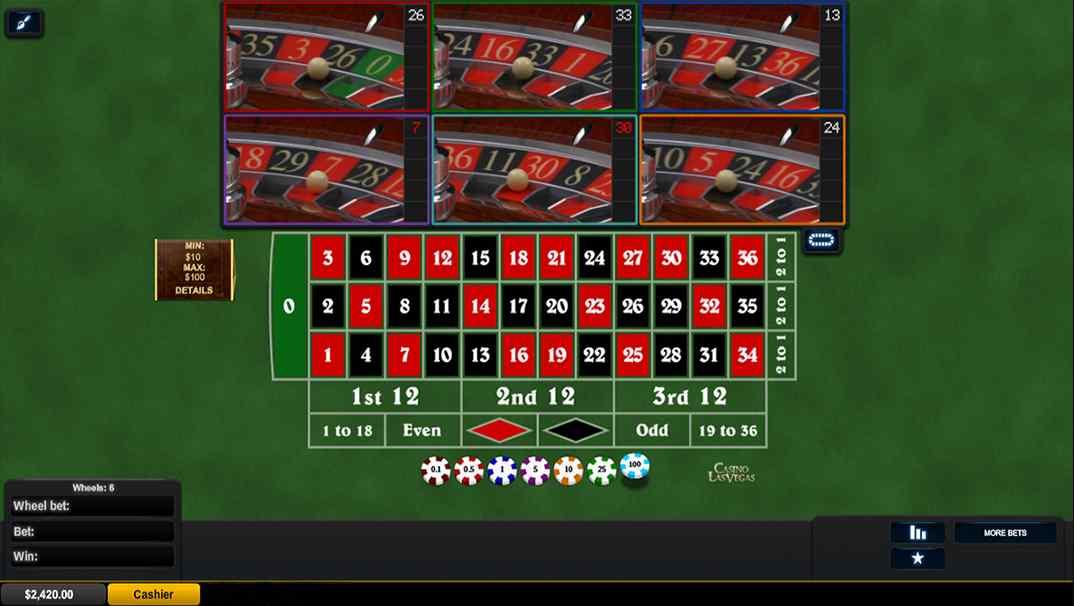 Casino Las Vegas Multiwheel Roulette screenshot