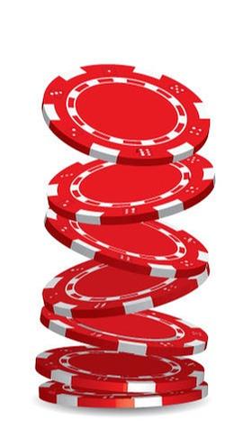 Video poker online - red poker chips
