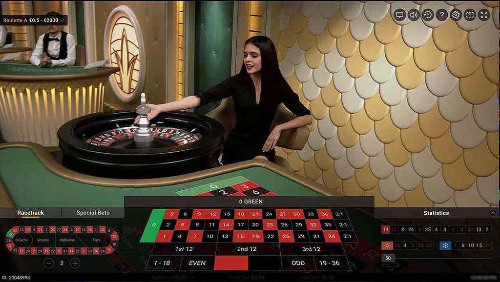 21.com Casino Live European Roulette screenshot