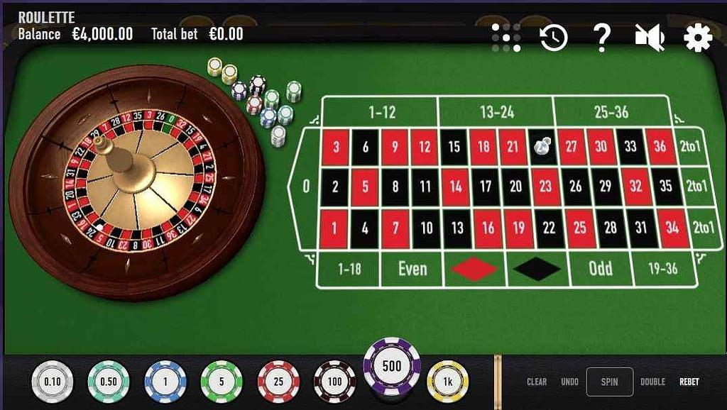 21.com Casino Classic European Roulette screenshot