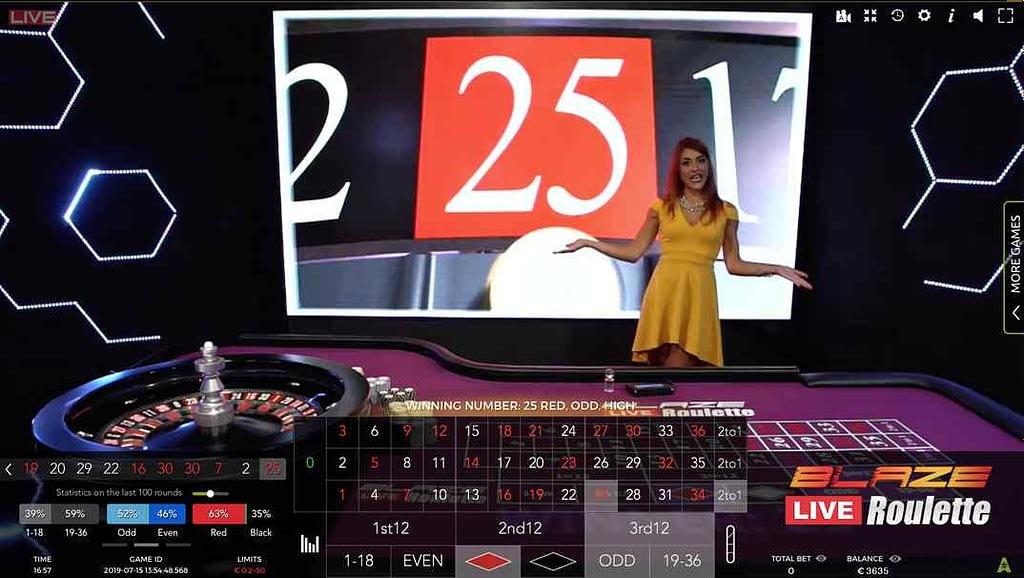 Bob Casino Blaze Live Roulette screenshot
