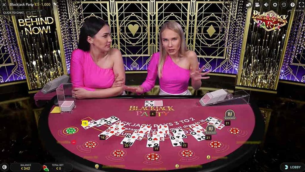 Spinia Blackjack Party Live Casino