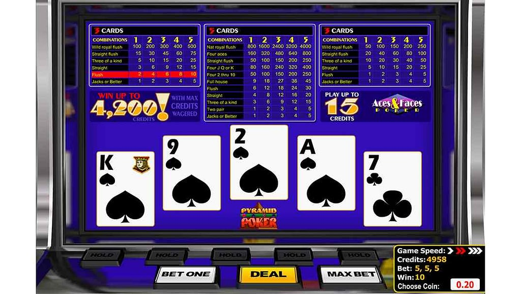 Betamo video poker - Pyramid Aces & Faces by Betsoft Gaming