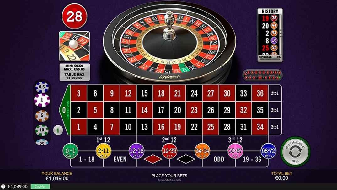 Casino Las Vegas Spread Bet roulette screenshot