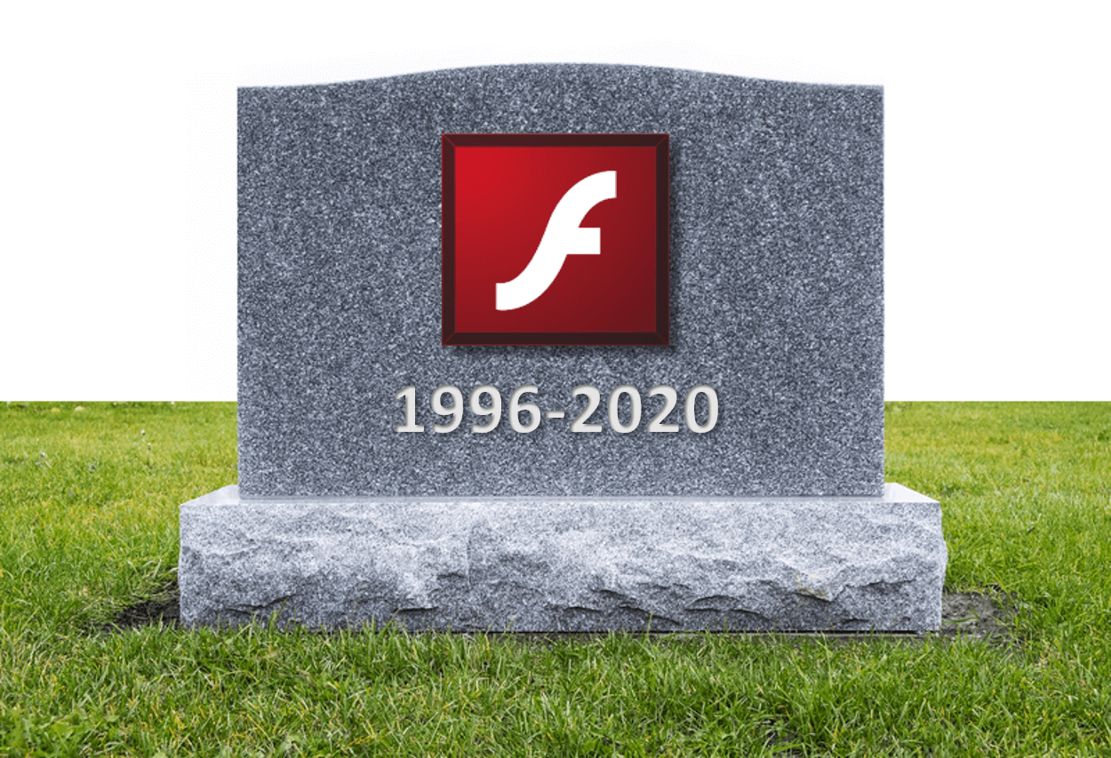 Tombstone for Adobe Flash 1250x853