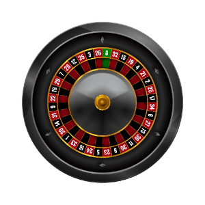 Roulette wheel with transparent background 300x300