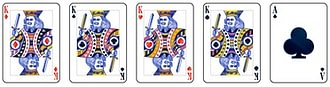 Video poker - Four of a Kind