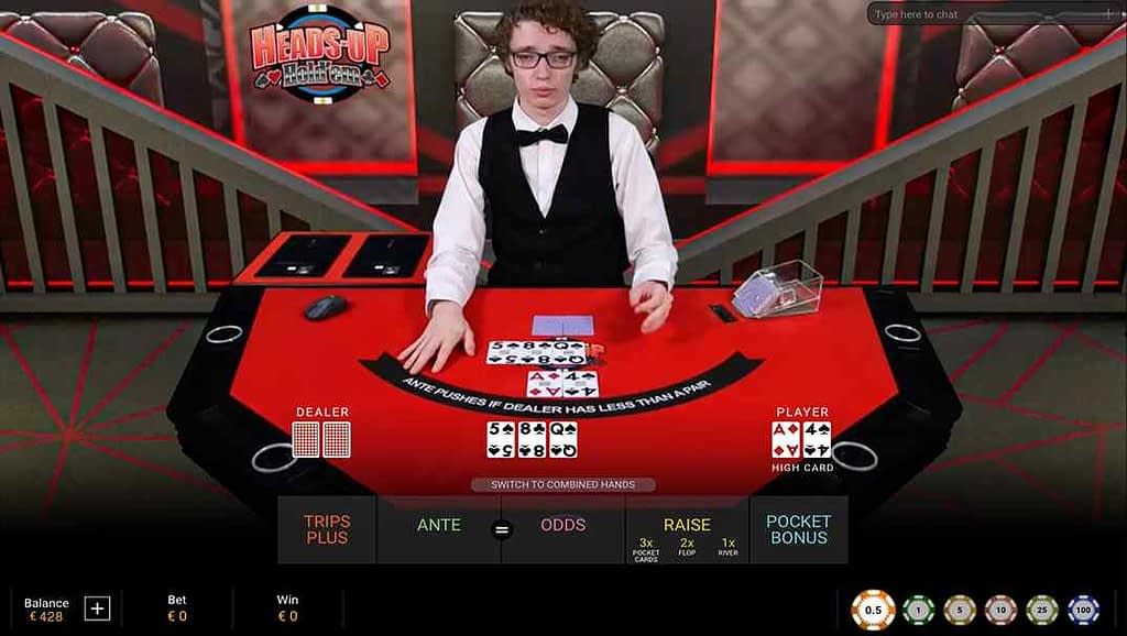 Casino Las Vegas Heads Up Hold'em by Playtech
