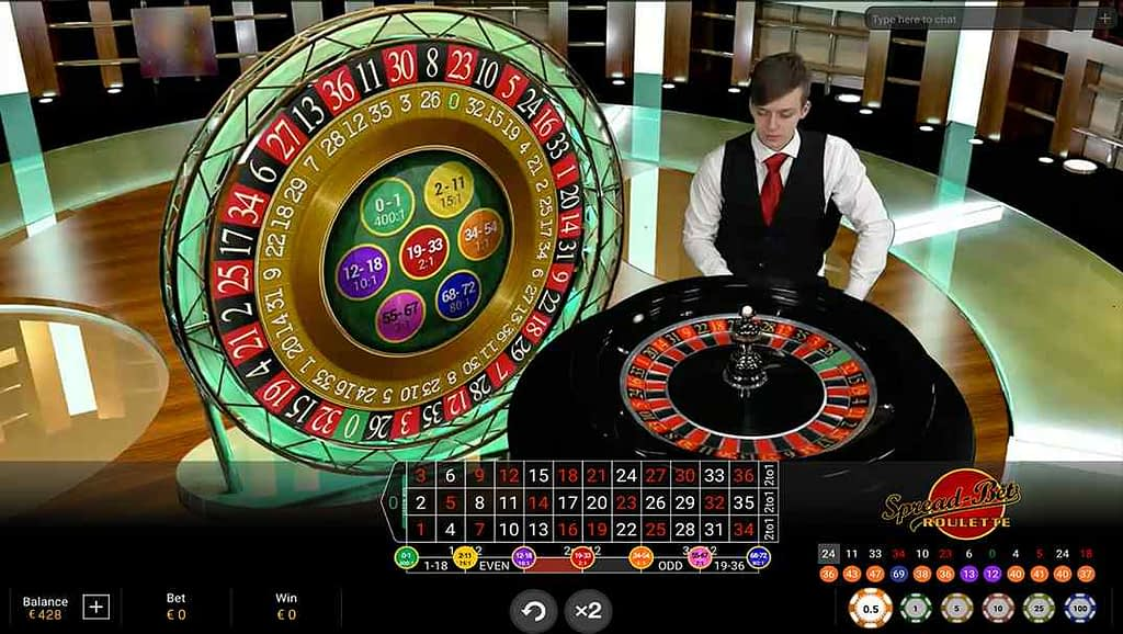 Casino Las Vegas SpreadBet Roulette by Playtech