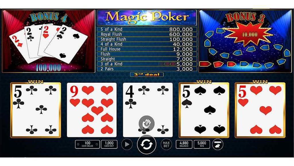 Enzo Casino video poker - Magic Poker by Wazdan