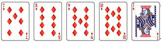 Video poker - Straight Flush