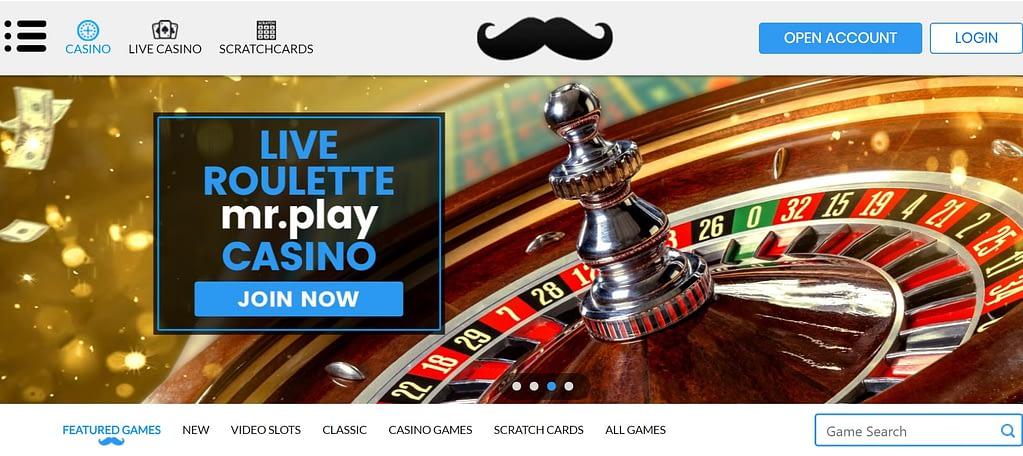 MrPlay Casino homepage screenshot