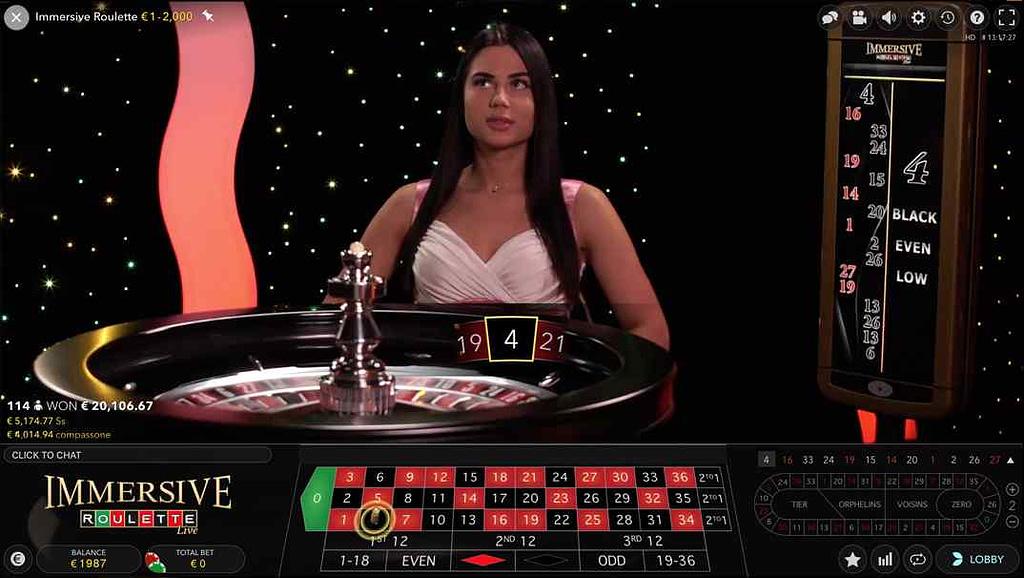 Betchan Immersive Live roulette screenshot