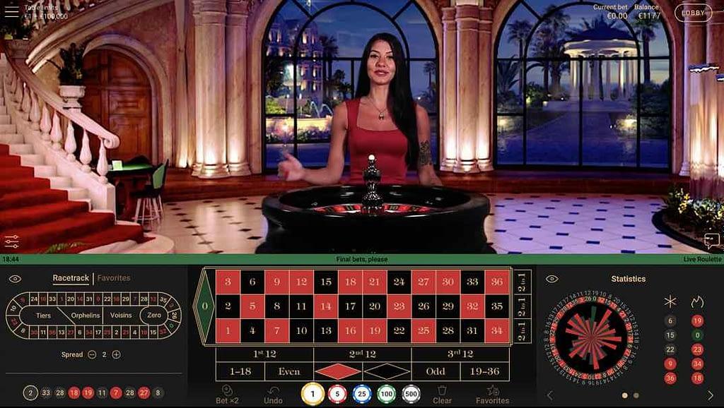 SlotsMagic Casino NetEnt Live Roulette