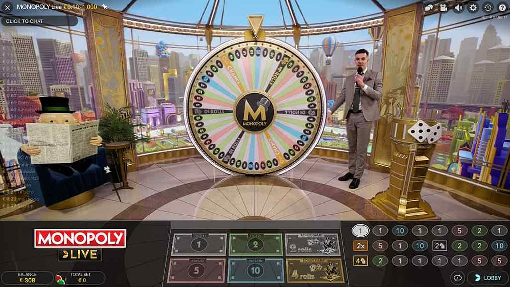 SlotsMagic Monopoly Live Casino
