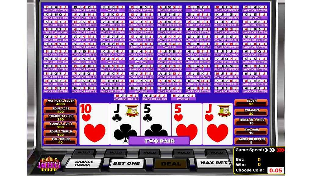 Betamo video poker - Double Jackpot by Betsoft Gaming