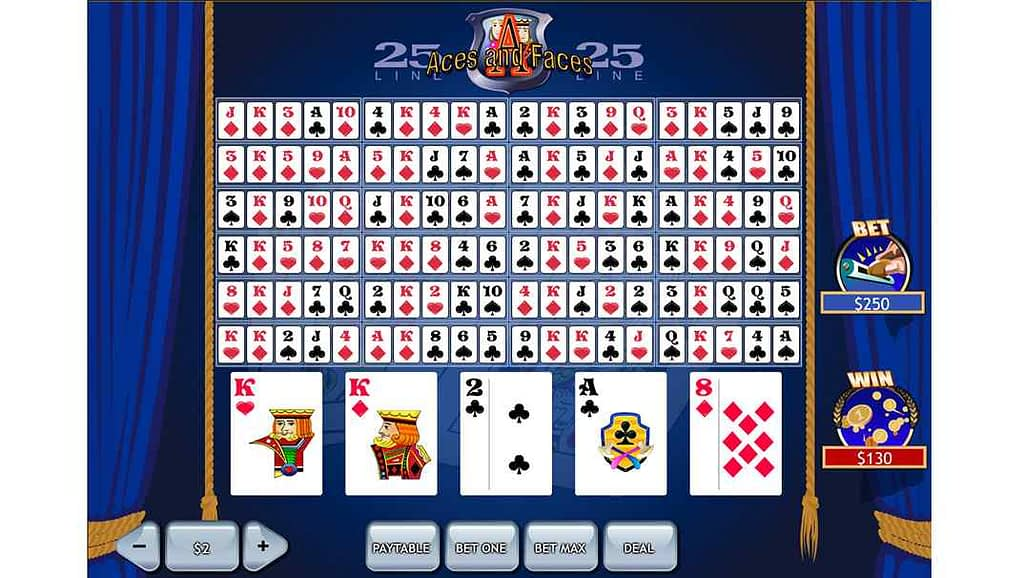 Casino Las Vegas Video Poker - Aces & Faces 25 Line by Playtech