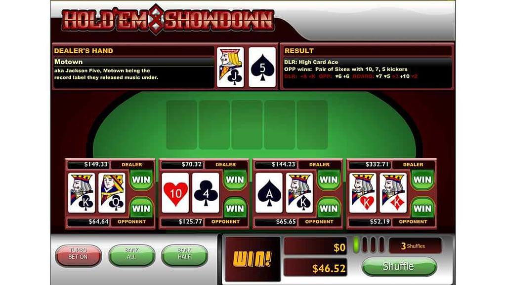 Casino Las Vegas video poker - Hold'em Showdown by Playtech