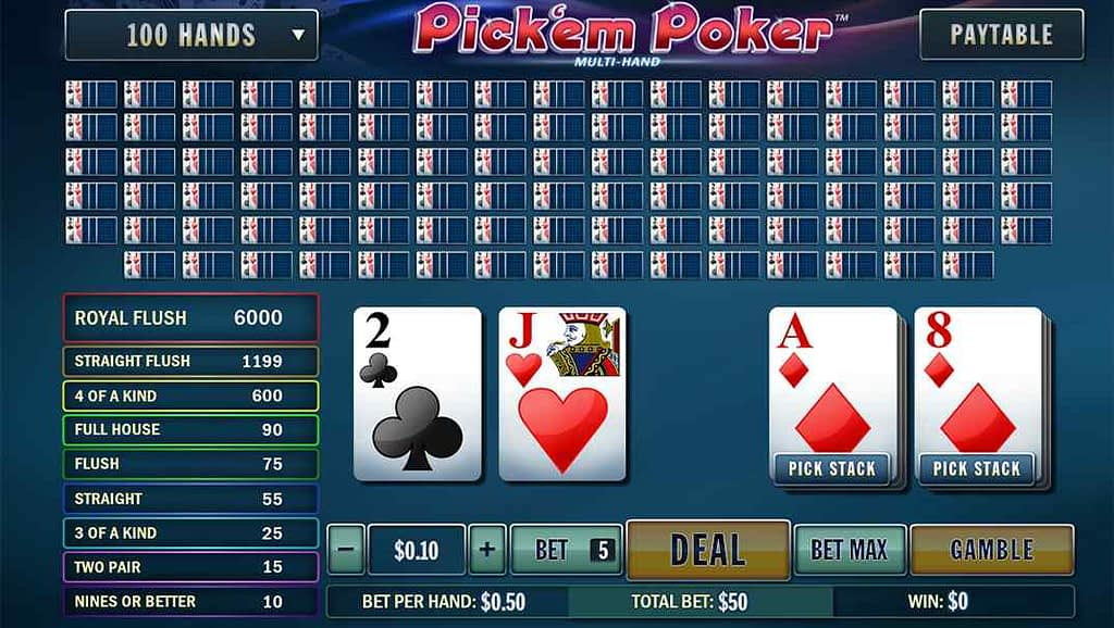 Casino Las Vegas Pick'em Poker by Playtech