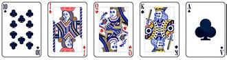 Video poker - Straight