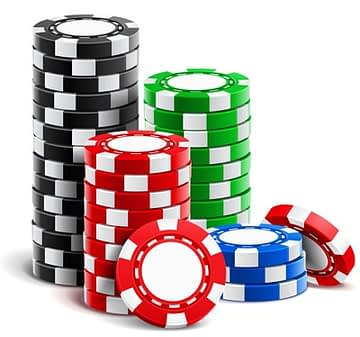 Video Poker - casino chips stack